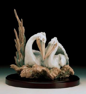 The Pelicans L.e.b. Lladro Figurine