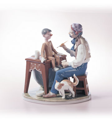 The Puppet Painter Lladro Figurine