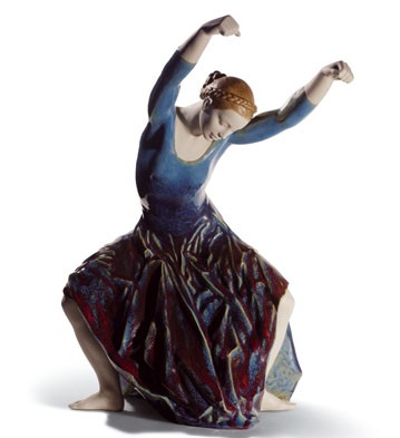 The Spirit Of Dance (blue) Lladro Figurine