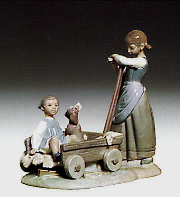 The Wheelbarrow Lladro Figurine