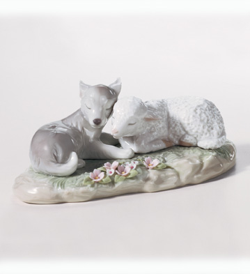 The Wolf Also Shall Dwell With The Lamb Lladro Figurine