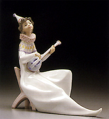 The Young Jester-mandolin Lladro Figurine
