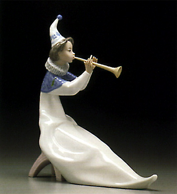 The Young Jester-trumpet Lladro Figurine