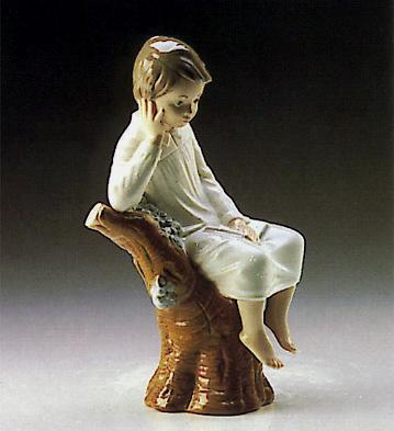 Thinker Little Boy Lladro Figurine