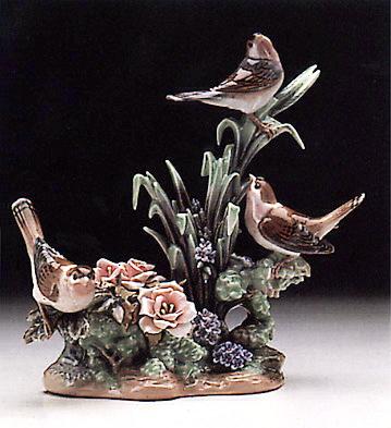 Three Birds Lladro Figurine