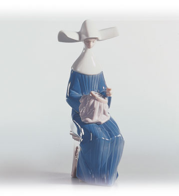 Time To Sew (blue) Lladro Figurine