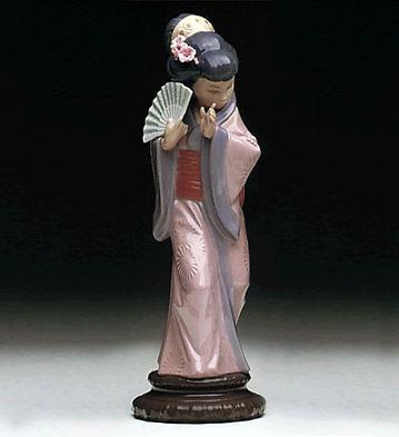 Timid Japanese Lladro Figurine