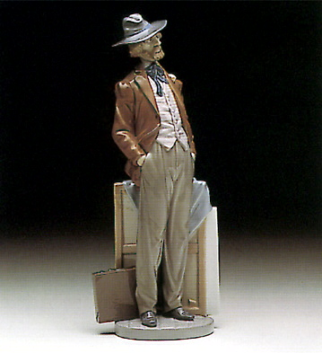 Traveling Artist Lladro Figurine