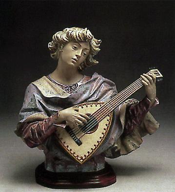 Trobadour Bust -b- Lladro Figurine