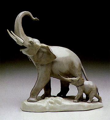 Two Elephants Lladro Figurine