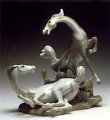 Two Horses Lladro Figurine