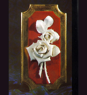 Two Roses Group On Socle Lladro Figurine