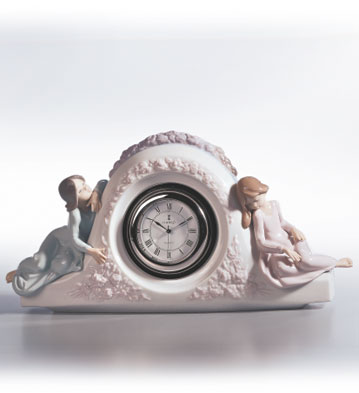Two Sisters Clock Lladro Figurine