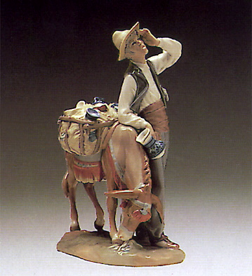 Typical Peddler Lladro Figurine