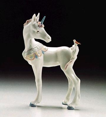 Unicorn And Friend Lladro Figurine