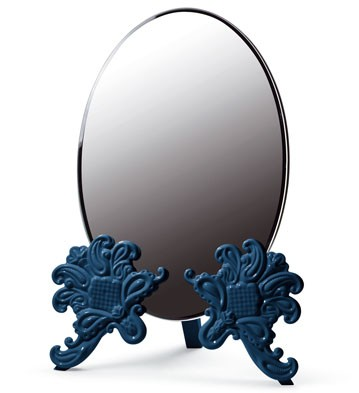 Vanity Mirror (blue) Lladro Figurine
