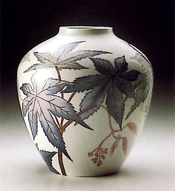 Vase Ricinus Palm Lladro Figurine