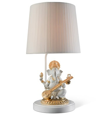 Veena Ganesha (re-deco) - Lamp (us) Lladro Figurine