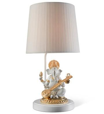 Veena Ganesha (re-deco) - Lamp (us) Lladro Figurine