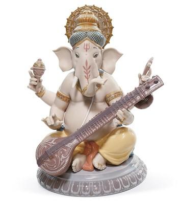 Veena Ganesha Lladro Figurine
