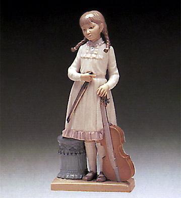 Viola Lesson Lladro Figurine