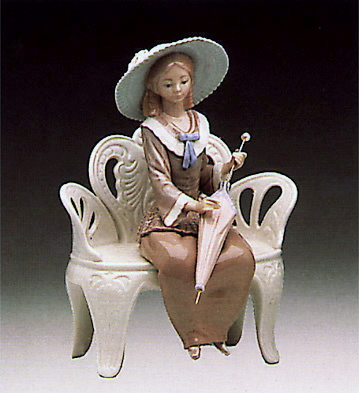 Waiting In The Park Lladro Figurine