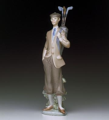 Waiting To Tee Off Lladro Figurine