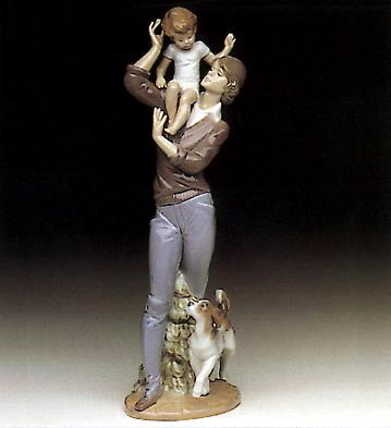 Walk With Father Lladro Figurine