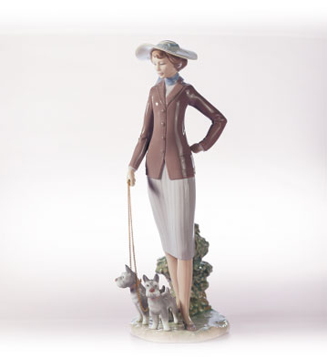 Walking The Dogs Lladro Figurine
