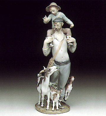 Walking The Fields Lladro Figurine
