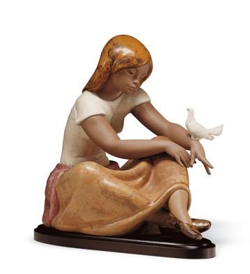 Watching The Dove Lladro Figurine