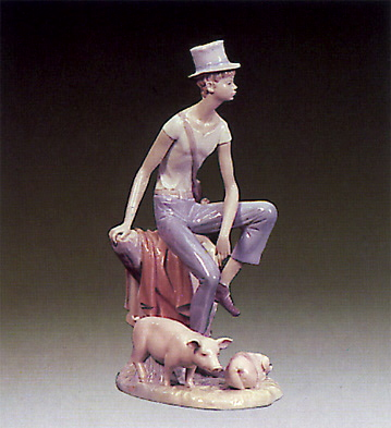 Watching The Pigs Lladro Figurine