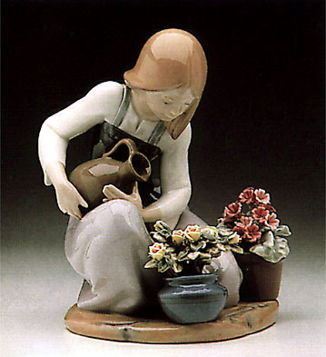 Watering The Flower-pots Lladro Figurine