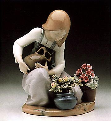 Watering The Flower-pots Lladro Figurine