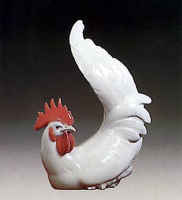 White Cockerel Lladro Figurine