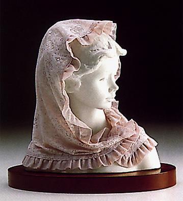 White Lady(b) Lladro Figurine