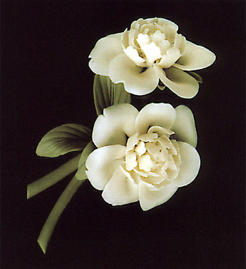 White Peony With Base Lladro Figurine