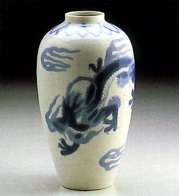 White Vase Lladro Figurine