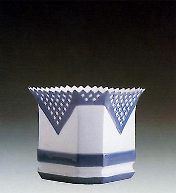 Wide Octagonal Vase Lladro Figurine