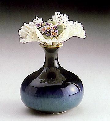 Wild Flowers Vase-blue Lladro Figurine