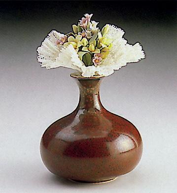 Wild Flowers Vase-rust Lladro Figurine