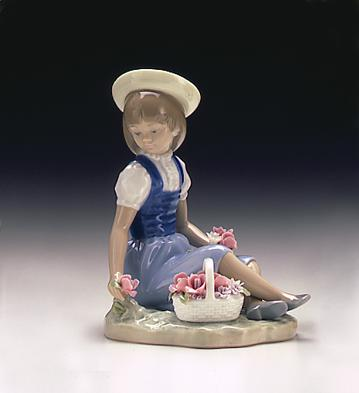 With Wild Flowers Lladro Figurine