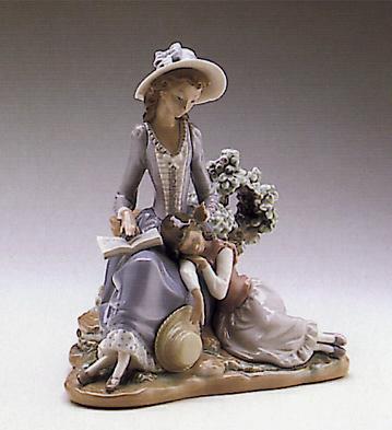 Woman And Girl Sleeping Lladro Figurine