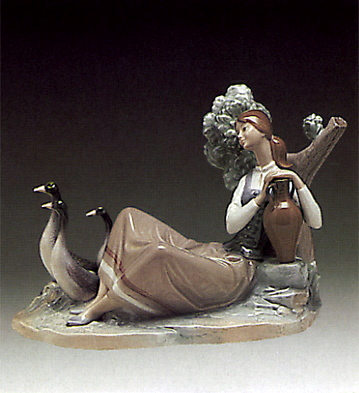 Woman Carrying Water Lladro Figurine