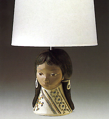 Woman From Guadalupe (lamp) Lladro Figurine