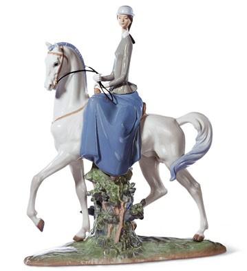 Woman On Horse Lladro Figurine