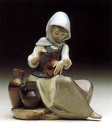 Woman Painting Lladro Figurine