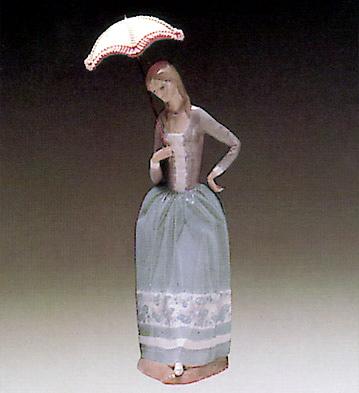Woman W/ Umbrella Lladro Figurine