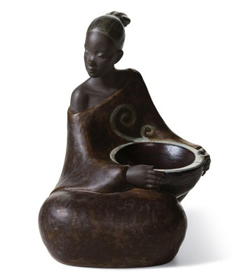 Woman With Basket Pulse Of Africa Lladro Figurine