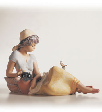 Woman With Bird Lladro Figurine